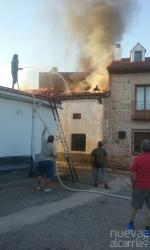Incendio  en La Mierla