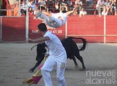 Casi tres cuartos de plaza en el festival provincial de recortadores 'Leyendas Alcarreñas'