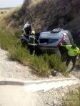 Tres heridos leves en un accidente de tráfico en la A-2