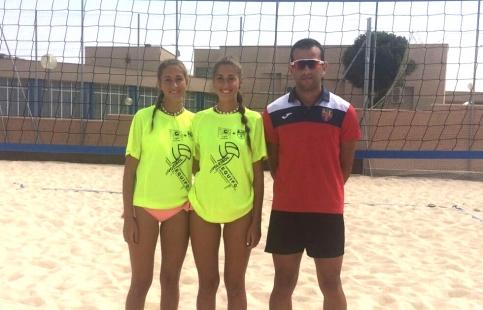 Las alcarreñas Laura y Silvia García Prados, cuartas de España de Voley-Playa
