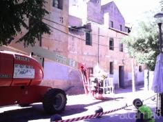 Ha comenzado la demolición del edificio de la tahona