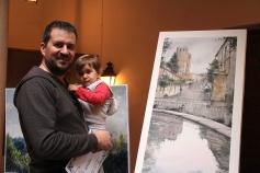 Pintando bajo la lluvia la belleza otoñal de Sigüenza