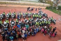 La Escuela de Tráfico de la Guardia Civil visita Sacedón