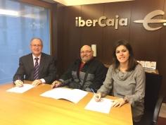 Ibercaja firma un convenio con la asociación Asdifigu de Guadalajara