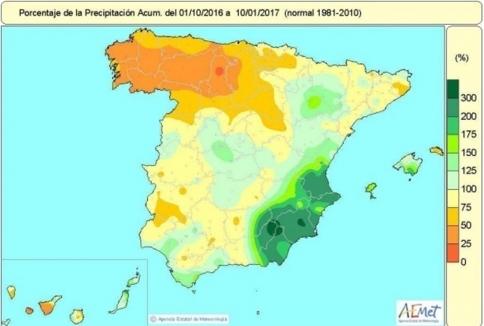 La provincia de Guadalajara está entre las más afectadas por la escasez de lluvias