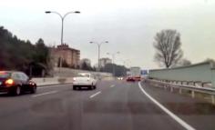 La Guardia Civil detiene a un kamikaze que circuló por la A-2 hasta chocar con otro vehículo
