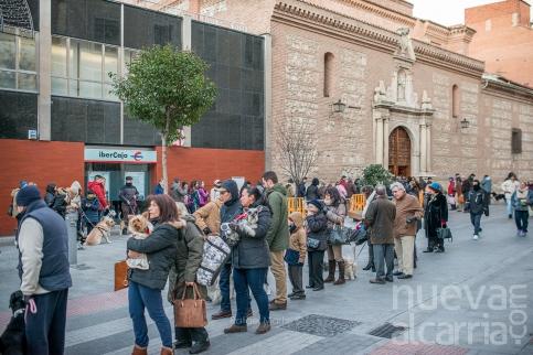 Dueños y mascotas desafían al frío por la bendición de San Antón