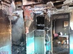 Rescatada una anciana del incendio de su vivienda en Horche
