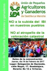 UPA se concentra en Guadalajara contra las revisiones catastrales