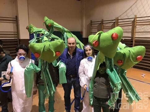 Una 'Plaga' de mantis religiosas, mejor disfraz 2017 en el carnaval de Sigüenza