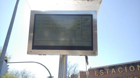 El Ayuntamiento trabaja para resolver los problemas en las pantallas TFT de los autobuses