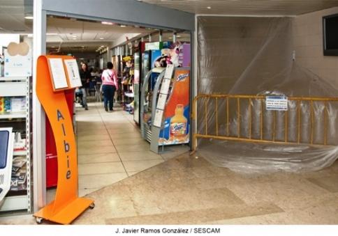 El Gobierno regional ejecuta estos días obras de mantenimiento y mejora en la planta 0 del Hospital de Guadalajara