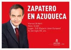 Zapatero hará este viernes campaña por Susana Díaz en Azuqueca