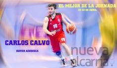 Carlos Calvo, elegido el mejor de la jornada