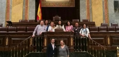Empresarios y profesionales de Azuqueca han visitado el Congreso de los Diputados