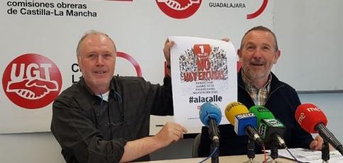 CCOO y UGT animan a llenar las calles de Guadalajara este 1º de Mayo