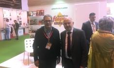 Santos López muestra el apoyo del Gobierno regional a las empresas que han acudido al Salón Gourmets bajo el stand de Castilla-La Mancha