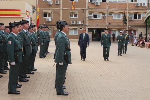 Celebración del 173º aniversario de la fundación de la Guardia Civil