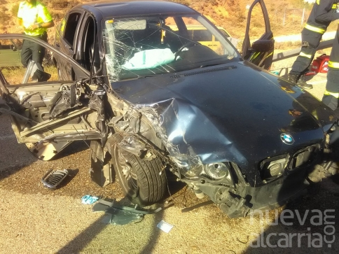 Trasladan en helicóptero un hombre herido grave en un accidente de tráfico en Jadraque