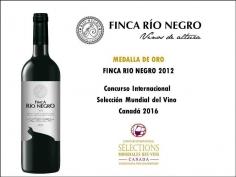 Finca Río Negro logra la medalla de oro del concurso 'Selections Mondiales des Vins' de Canadá