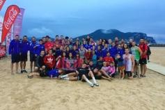 Cinco equipos azudenses participaron en el Campeonato de España de Balonmano Playa