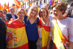 Guarinos encabeza la delegación del PP de CLM en la manifestacion de Barcelona