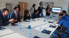 CEOE-CEPYME  y CaixaBank analizan el comercio exterior con los empresarios de Guadalajara