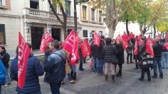 Un centenar de sindicalistas piden en Guadalajara mejoras para los empleados públicos