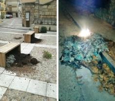 Brihuega sufre nuevos actos vandálicos en sus calles