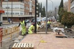 Las obras de la calle Sigüenza y colindantes, a punto de terminar