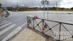 Primeras obras de mejora en la glorieta de Cuatro Caminos donde murió atropellada una joven