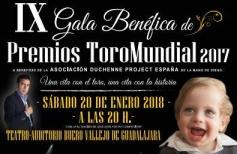 La gala de Toro Mundial se celebrará el sábado 20 a beneficio de los enfermos de Duchenne