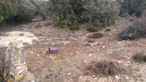 La ruta PR-GU 11 desmantelada por desalmados