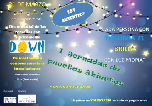 Jornadas de Puertas Abiertas este miércoles en la Asociación Down Guadalajara