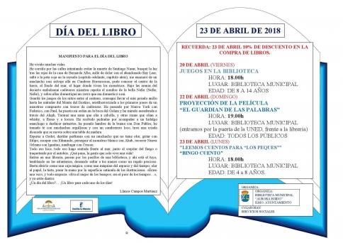 Actividades del Día del Libro en Molina de Aragón