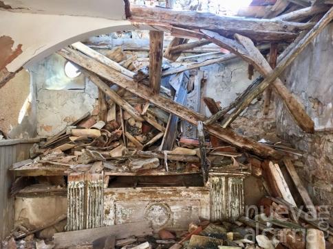 Aparecen huesos humanos en una iglesia derruida de Castellote