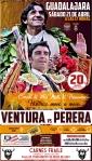 Diego Ventura y Miguel Ángel Perera torearán en la Feria Taurina de la Primavera de Guadalajara este sábado