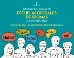 Abierto el plazo de admisión en la Escuela Oficial de Idiomas 2018/2019 desde el 11 hasta el 25 de mayo de 2018