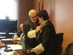 La presidenta de la Audiencia Provincial, Colegiada de Honor del Colegio de Procuradores