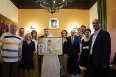 El pintor Emilio Fernández-Galiano dona un retrato de Felipe VI al Ayuntamiento de Sigüenza
