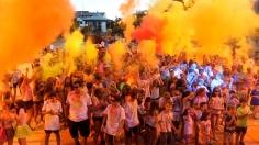 Cabanillas estrenó 'carrera de colores' con gran éxito de participación