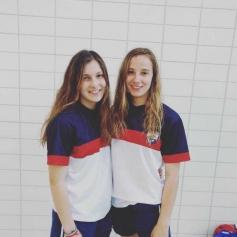 Miriam Martínez y Elsa López participaron en el Nacional de Natación