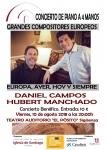 Mañana viernes, concierto de piano a cuatro manos en El Pósito a beneficio de la Iglesia de Santiago