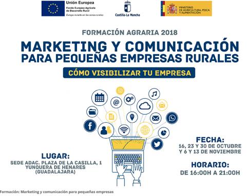 Nuevo curso 'Marketing y comunicación para pequeñas empresas rurales' de la Junta