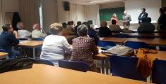 Latre asiste al inicio de uno de los Cursos de la Universidad de Mayores organizados con la ayuda de la Diputación