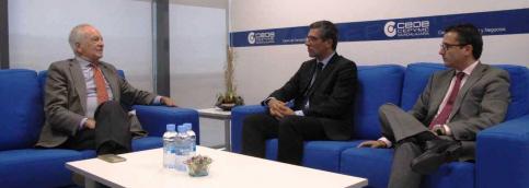 CEOE transmite al subdelegado las peticiones de los empresarios de Guadalajara