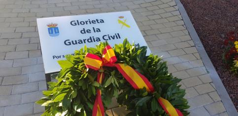 Azuqueca homenajea a la Guardia Civil con la inauguración de una rotonda con su nombre