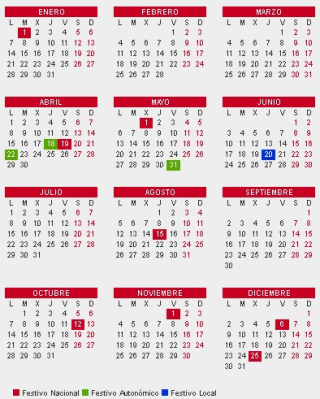 Calendario Laboral 2019 Andalucia.El Calendario Laboral De 2019 Recoge 12 Dias Festivos Solo 8
