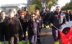 Huelga del personal de almacén de Lyreco de Alovera