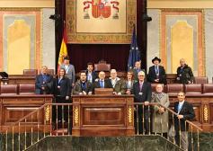 Varios karatecas de Guadalajara visitan el Congreso de los Diputados